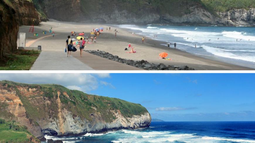 Praia de Santa Barbara.  Plage des Açores.  Photo de pinterest.com, visitiportugal.com