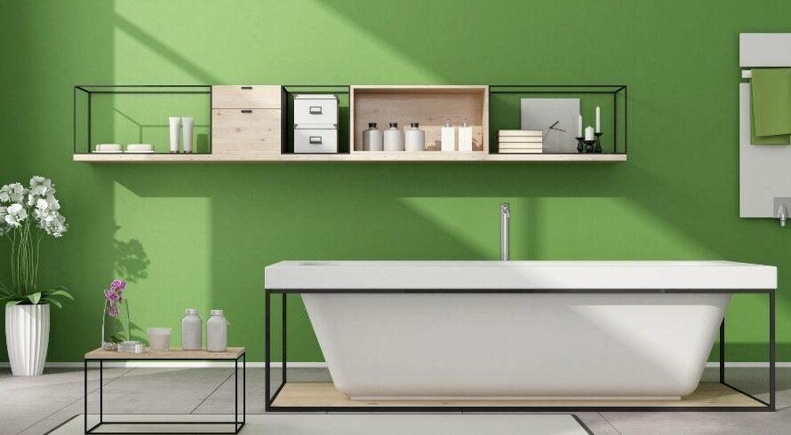 8 façons simples d'avoir une salle de bain verte