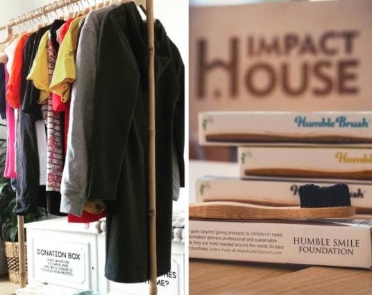 Échange de vêtements et économie circulaire.  Impact House.