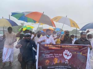 La marche tamoule pour la justice commence à l'est et se terminera dans le nord