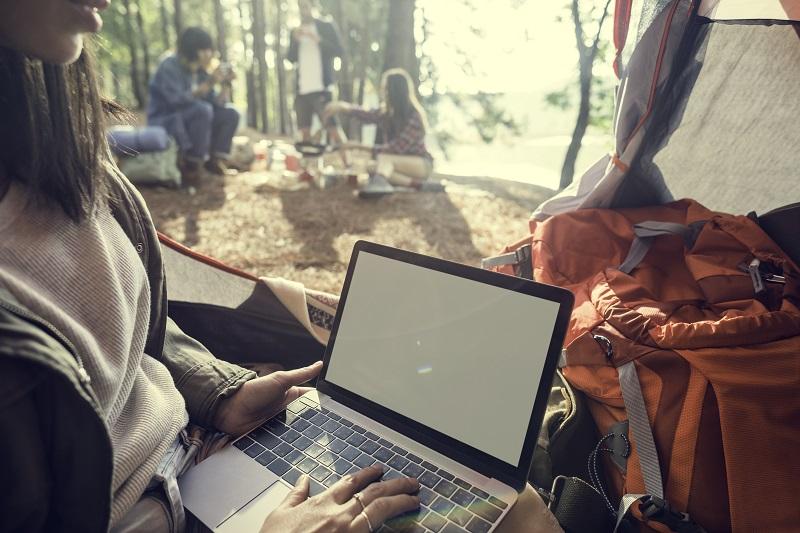 Concept de l'espace de copie pour ordinateur portable
