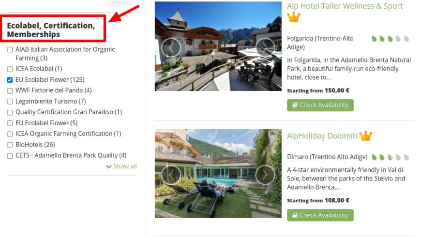 Site web Ecobnb, utile pour trouver des éco-hébergements