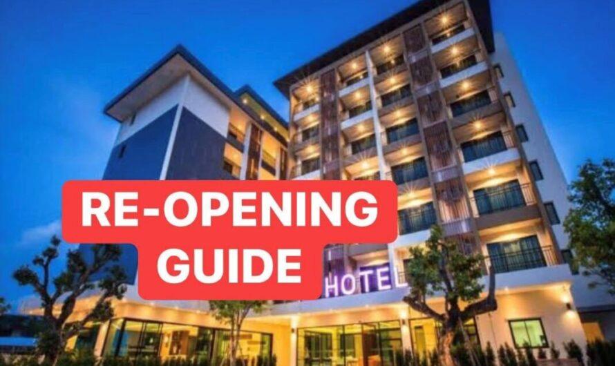 La voie de la réouverture des portes de l'hôtel