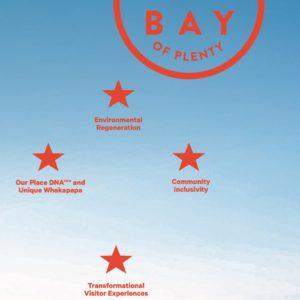 Te Punga, la Croix du Sud et symbole de la vision de Tourism Bay of Plenty.