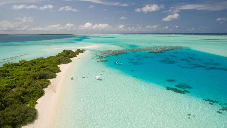 Les Maldives, l'un des endroits susceptibles de disparaître à cause du changement climatique