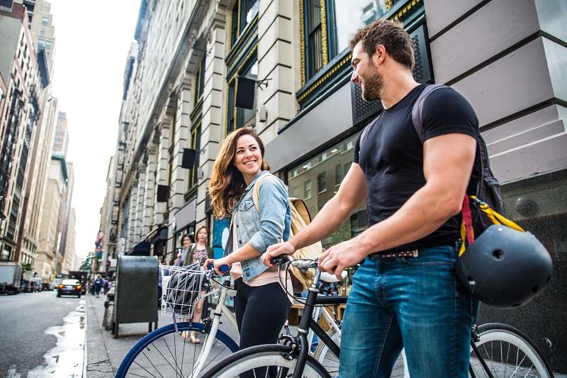 Cyclistes à New York