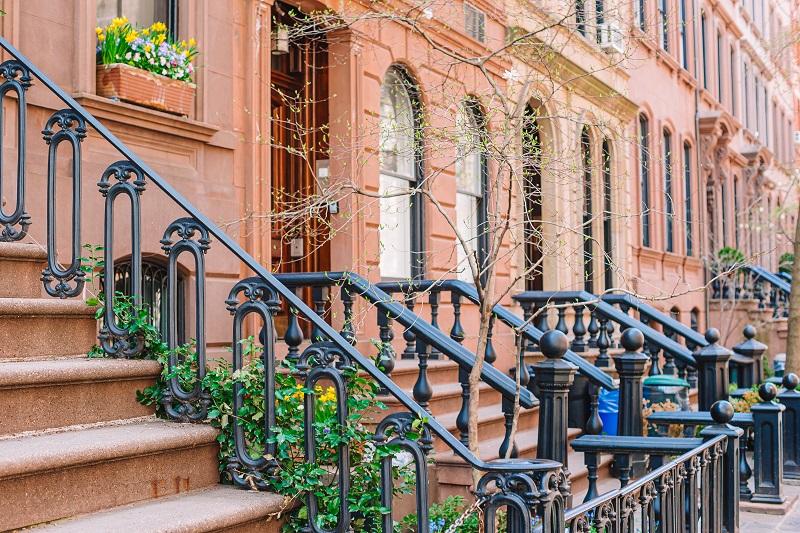 Les rues vides de West Village à New York Manhattan, USA