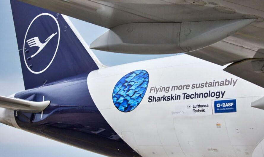 Le groupe Lufthansa et BASF déploient la technologie de la peau de requin
