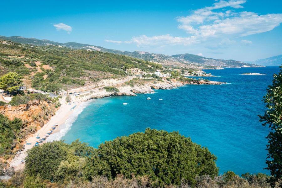 Route de l'île de Zakynthos