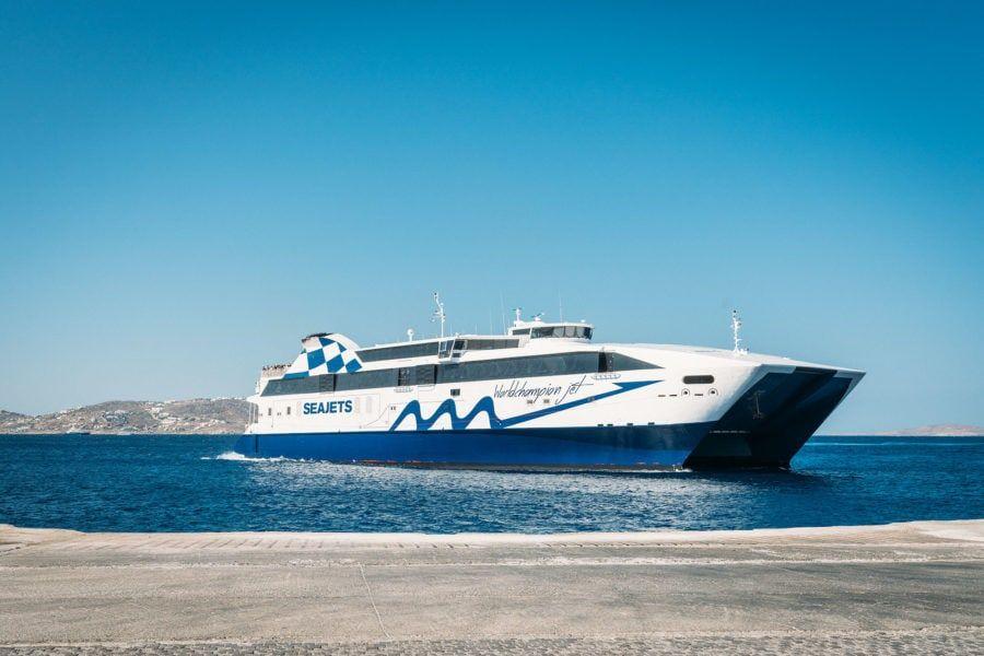 Ferry de l'île grecque