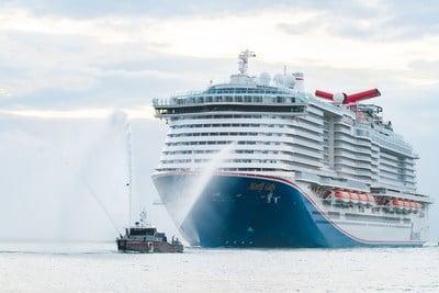 Mardi Gras de Carnival Cruise Line fait ses débuts aux États-Unis