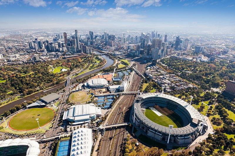 vue aérienne de Melbourne