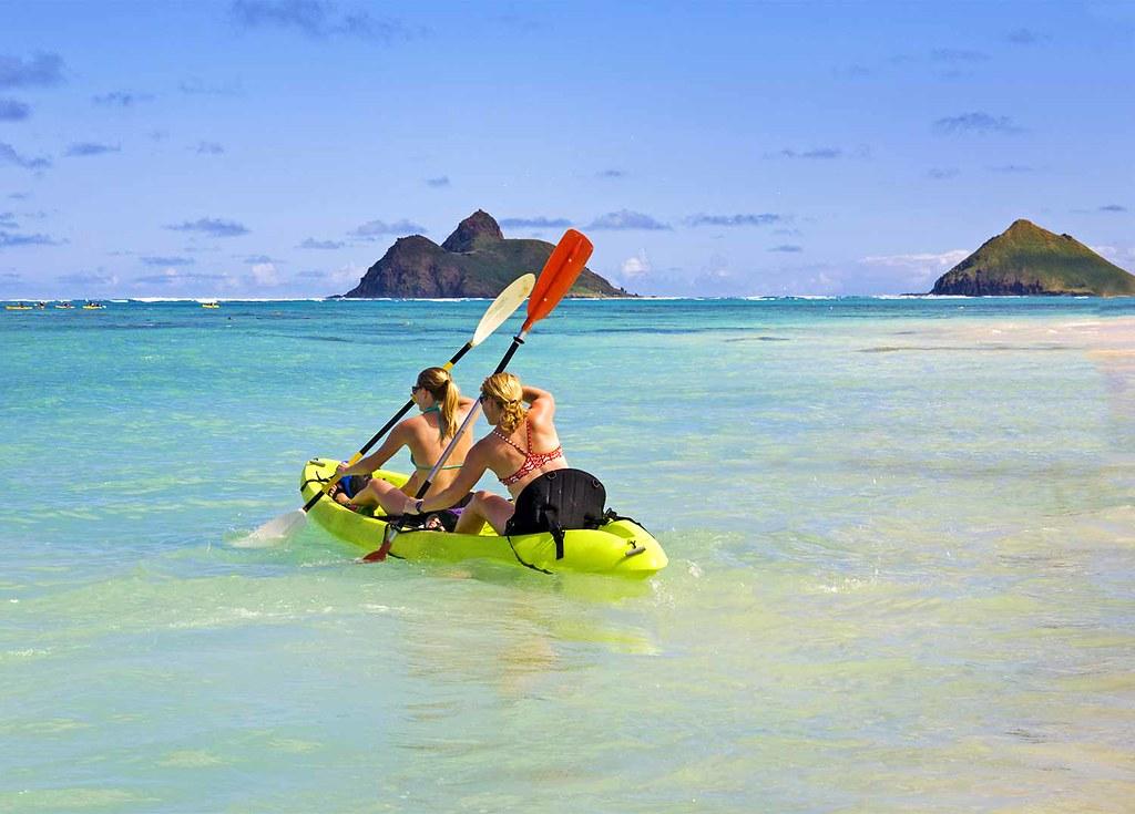 lanikai-plage-kayak