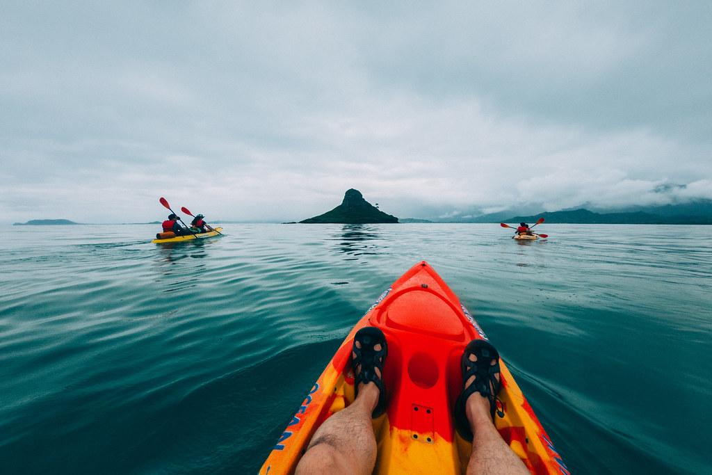 Kayak vers Chinamans Hat