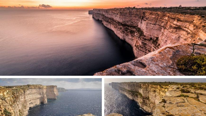 Falaises de Ta'Cenc à Gozo