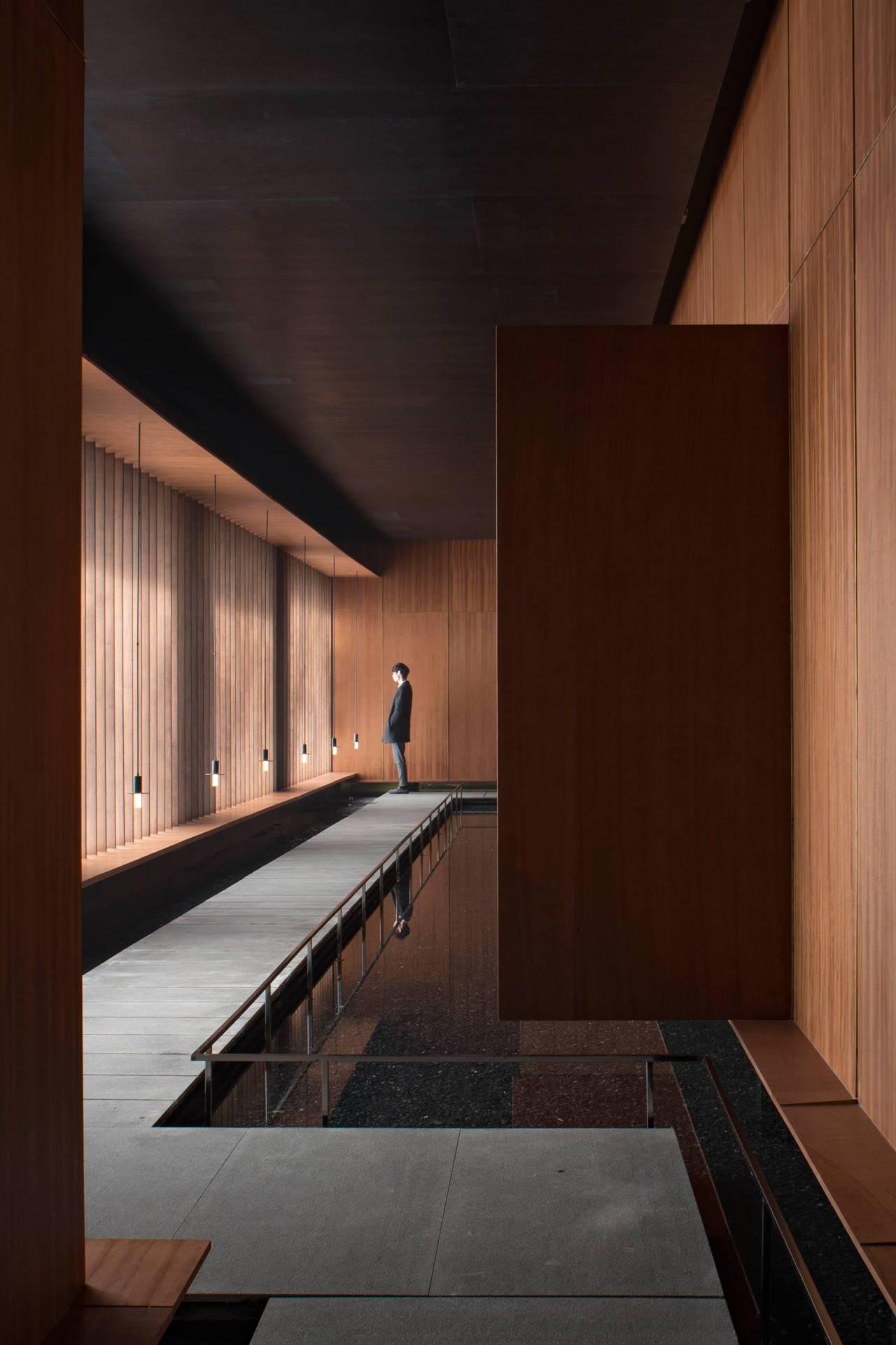 Salle de méditation, Huanghua, Chine